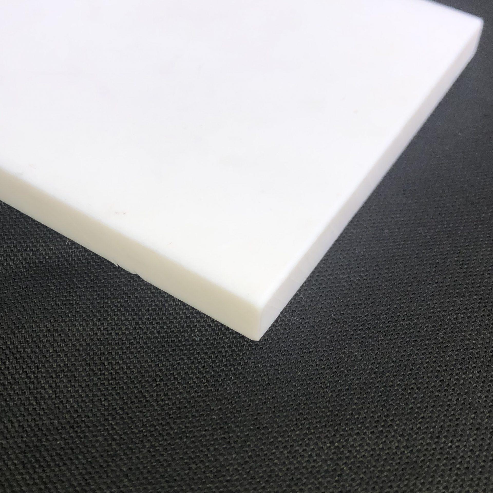 """UHMW Polyethylene Sheet 0.375/"""" x 5/"""" x 48/"""" White"""