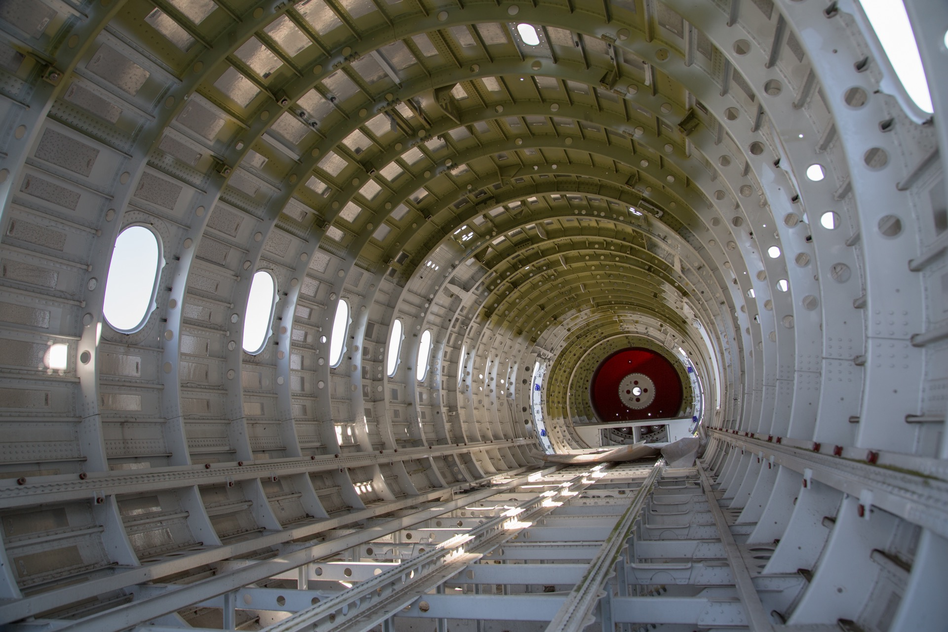 Aluminum aircraft fuselage